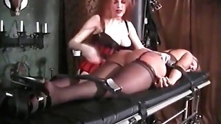 Tied Blonde Gets Her Big Rump Spanked Hard