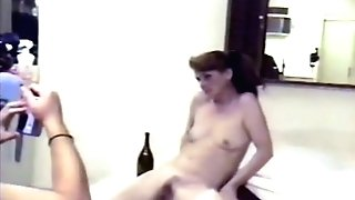 Lovely Brown-haired Nude In Bath Then Gets Facial Cumshot (scanty Movie Quality At End)