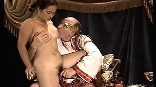 Asian Youthful Nymph Casting made by Older and Fat Grand-pa