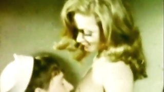 Girlfriend's Deepthroat Mouth CUM-SHOT (1960s Antique)