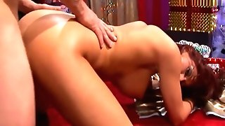 Tattooed Sandy-haired Luvs Getting Fucked By Santas Anxious Meatpipe