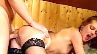 Super-cute dark haired nubile rails a dick